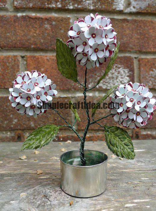 Artificial flower simple craft ideas for Fake flowers for crafts