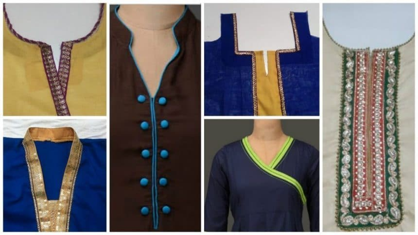 How To Make Kurta Neck Design In Easy Way Simple Craft Ideas
