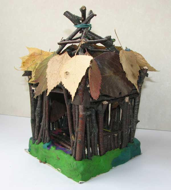 Дом из палок своими руками 50