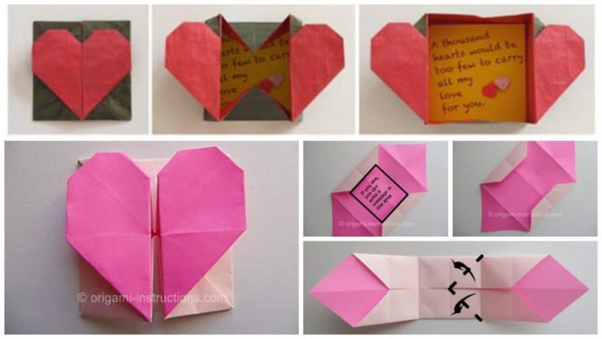 How To Make An Easy Origami Heart Box