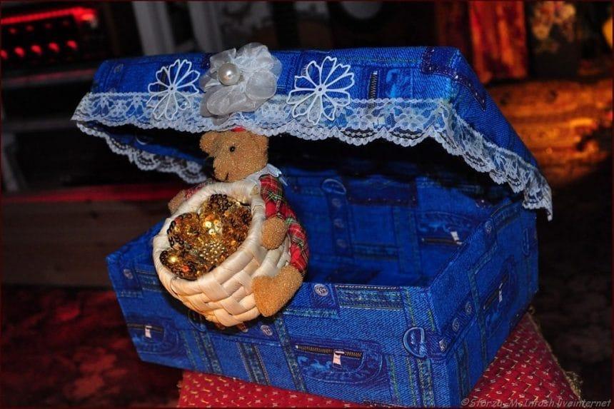 Как сделать новогоднюю шкатулку