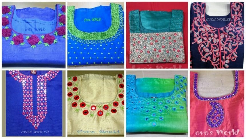 Simple Embroidery Patterns For Kurti
