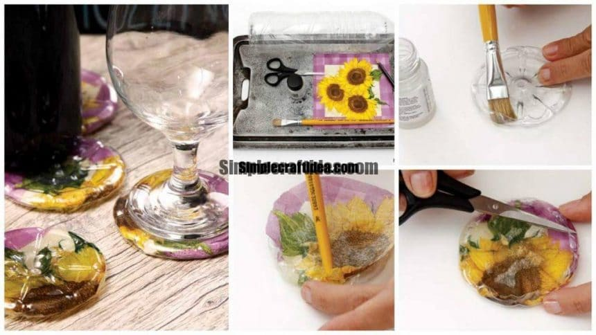 coasters out of plastic bottles