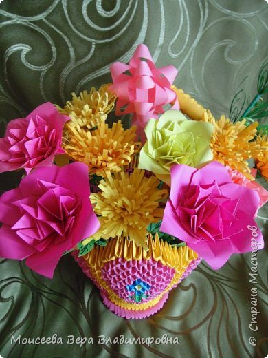 Flowers Basket Making : Howto make quot flower basket from origami simple craft ideas