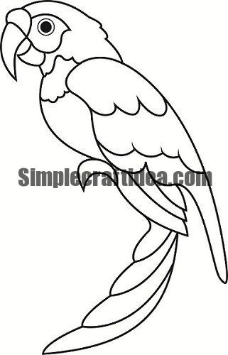 navy border art how to make a beautiful rainbow parrot simple craft ideas