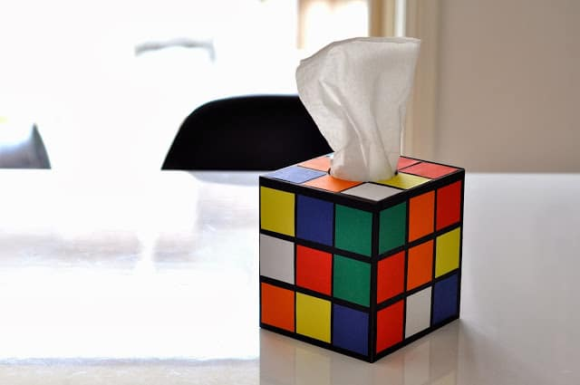 Rubik's cube napkin holder