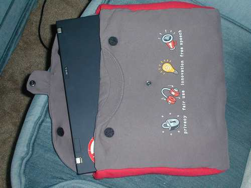 cover-bag for a laptop from old T-shirt