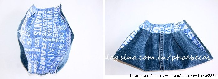 handbag from old jeans