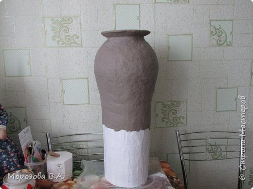 How To Make Floor Vase From Papier Mache Simple Craft Ideas