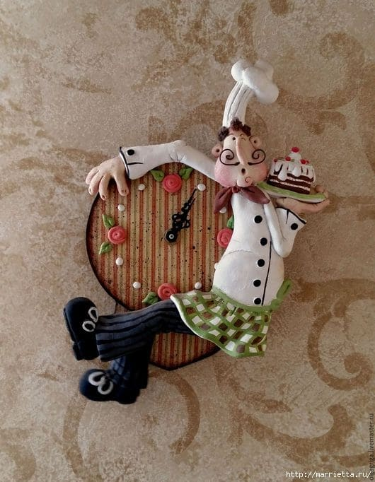 '' happy chef '' clock