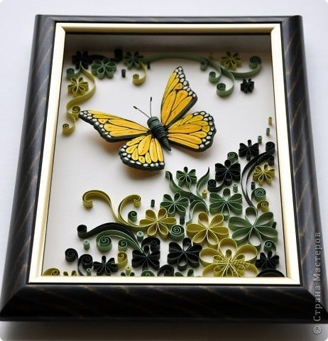 quilling butterfly panel