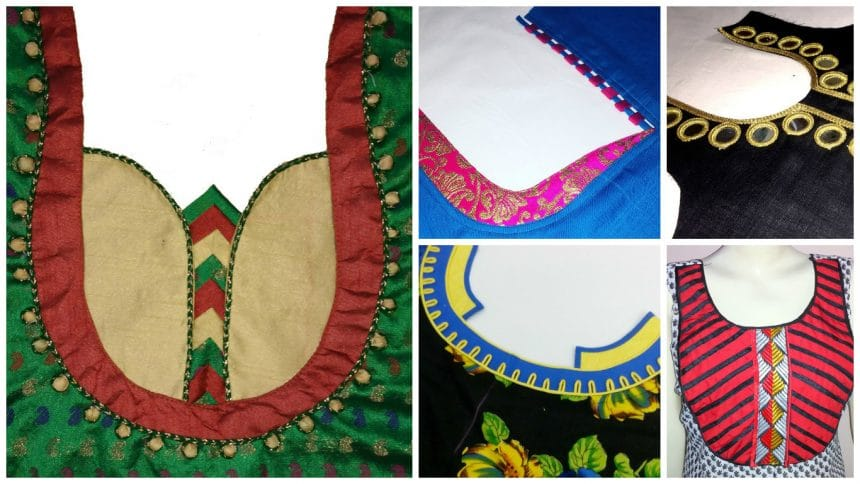 How To Make Different Types Of Kurthi Neck Simple Craft