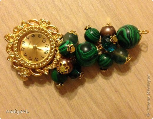 bracelet of beads and clocks