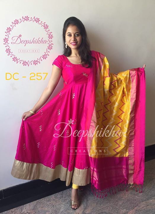 Different types of long anarkali salwar and suits simple craft ideas for How to design salwar kameez at home