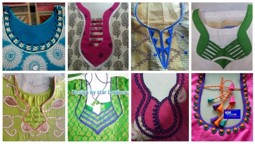 To Make Different Types Of Kurthi Neck Patterns Simple Craft Ideas