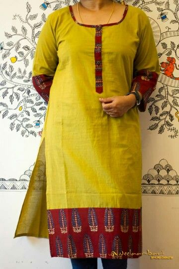 How to make different types of kurthi neck patterns – Simple Craft Ideas