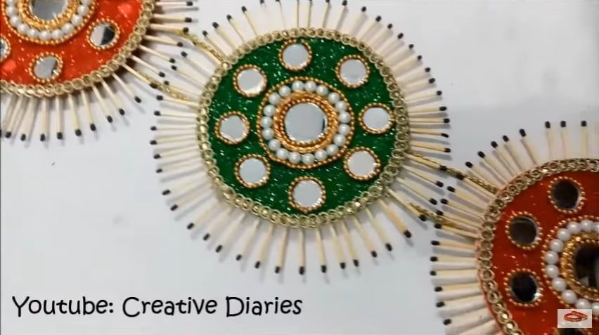 How To Make Matchstick Wall Hanging Simple Craft Ideas