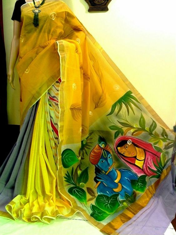 Learn Saree Painting By Following Simple Steps