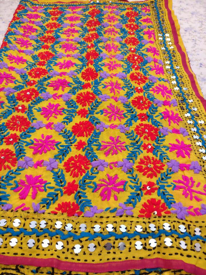 How To Make Phulkari Work Dupatta Simple Craft Ideas