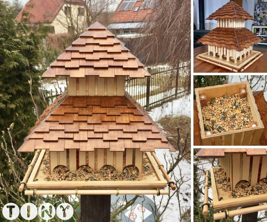 How to make wooden bird feeder simple craft ideas for How to make a wooden bird feeder