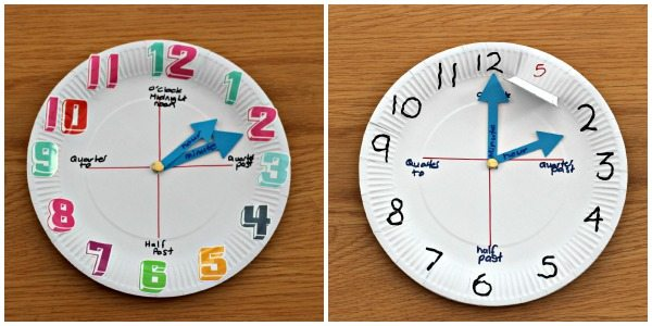 How To Make A Paper Plate Clock Simple Craft Ideas