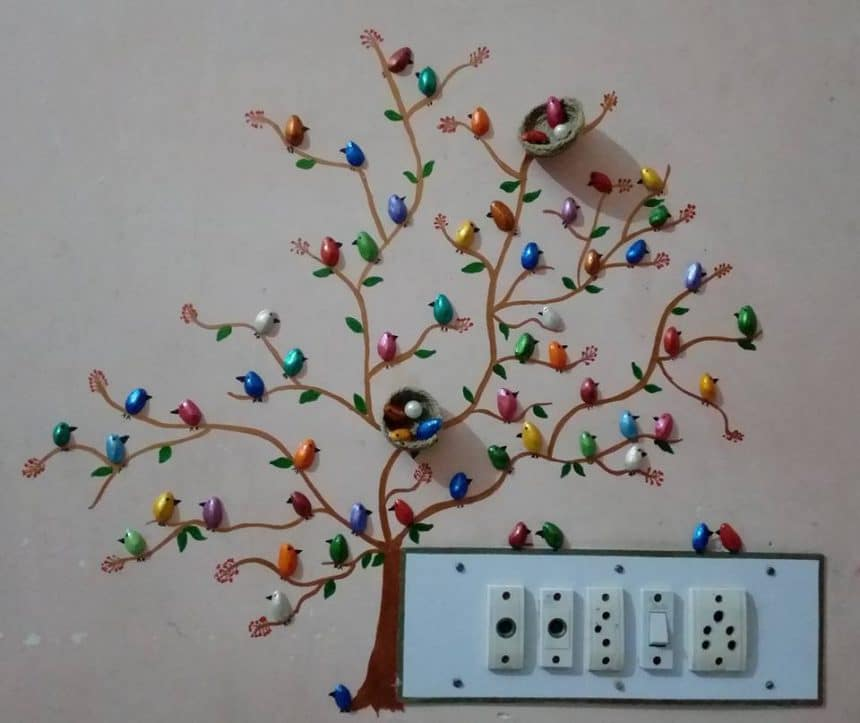 Wall Decoration Ideas From Waste Material