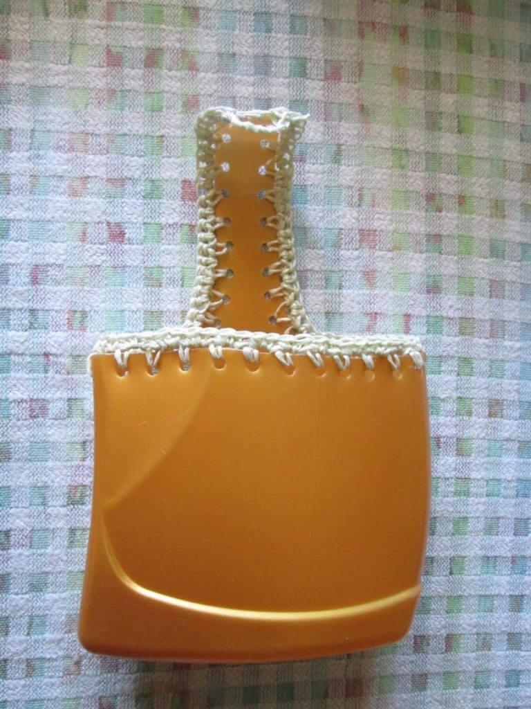 organizer for cloth clip from plastic bottle