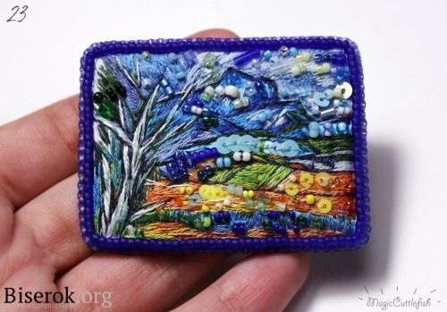 brooch in the painting