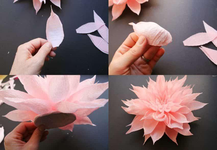 видео как сделать белый цветок из бумаги своими руками для акции видео