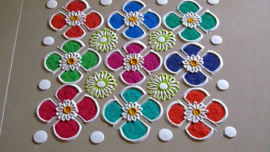Easy And Quick Rangoli Design Simple Craft Ideas