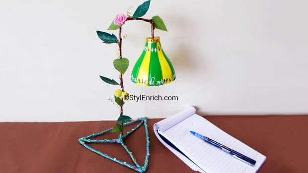 Lampshade made using plastic bottle simple craft ideas for Things made from waste plastic bottles