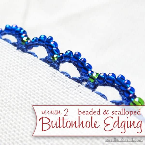 beaded buttonhole edging