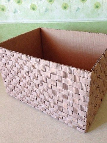 cardboard box made of cardboard