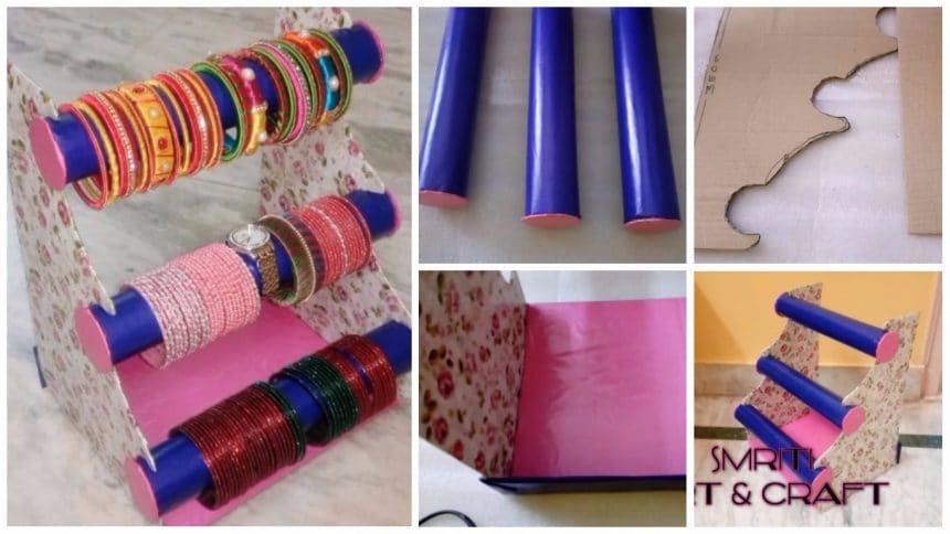 Bangle Stand Designs : How to make bangle stand simple craft ideas