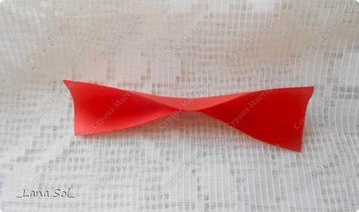 a ribbon flower