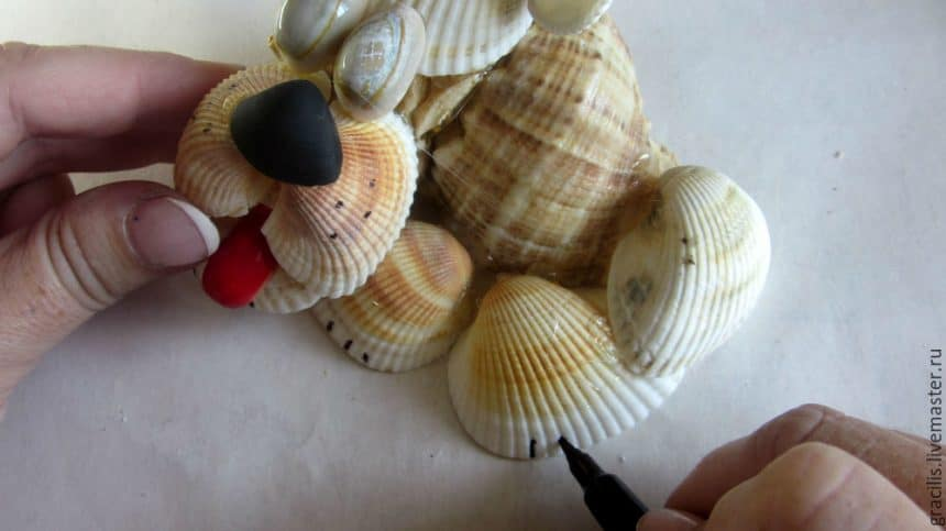 dog from shells