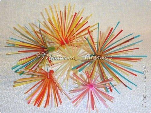 fireworks flower from plastic tubes