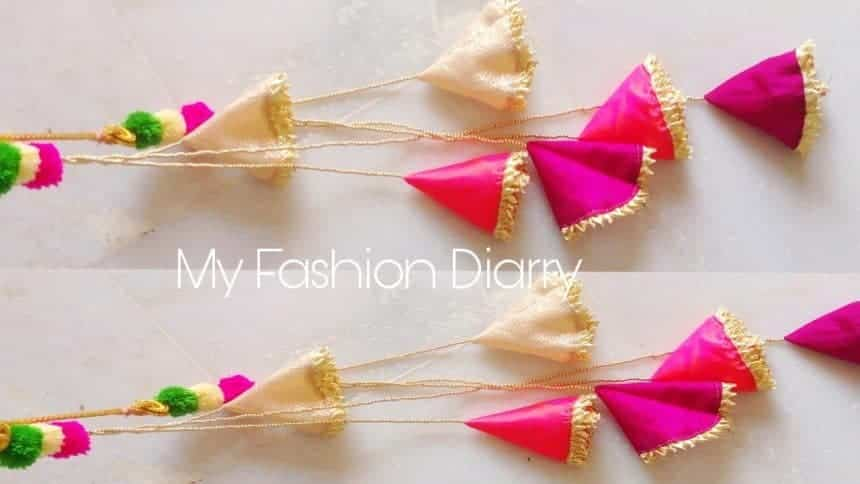 Making A Creative And Easy Fabric Latkan Simple Craft Ideas