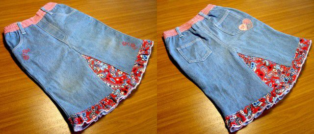 skirt out of old jeans