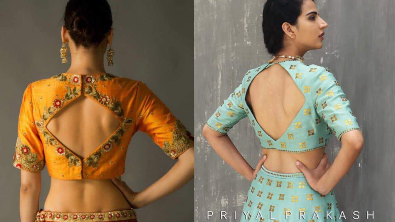 Latest designer saree blouse patterns