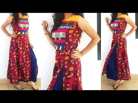 Princess Cut Double Front Slit Kurti Dress Tutorial