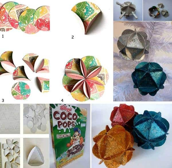Christmas Decorations With Recycled Material: 25 Ideas