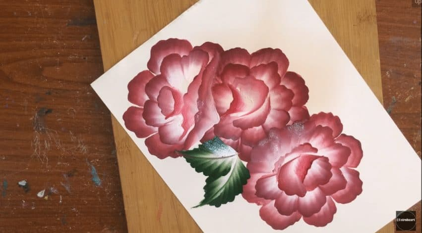 Flower Pot Stand Designs : Beautiful dotted flowers from one stroke painting simple
