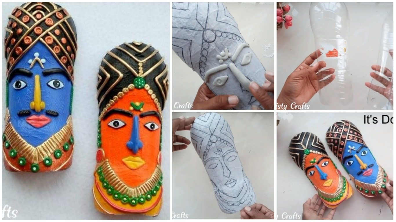 How To Make Tribal Mask From Plastic Bottle For Wall Art