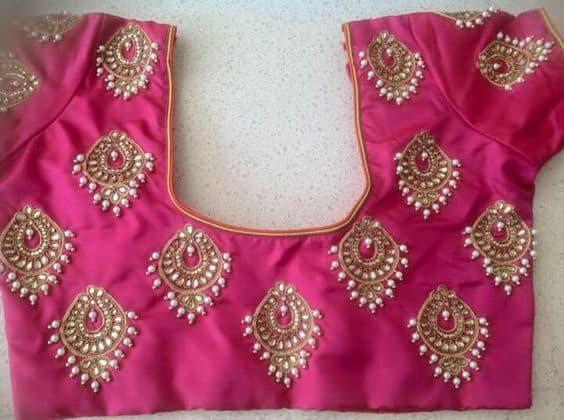 Jewellery embroidery for kurti blouse and saree simple