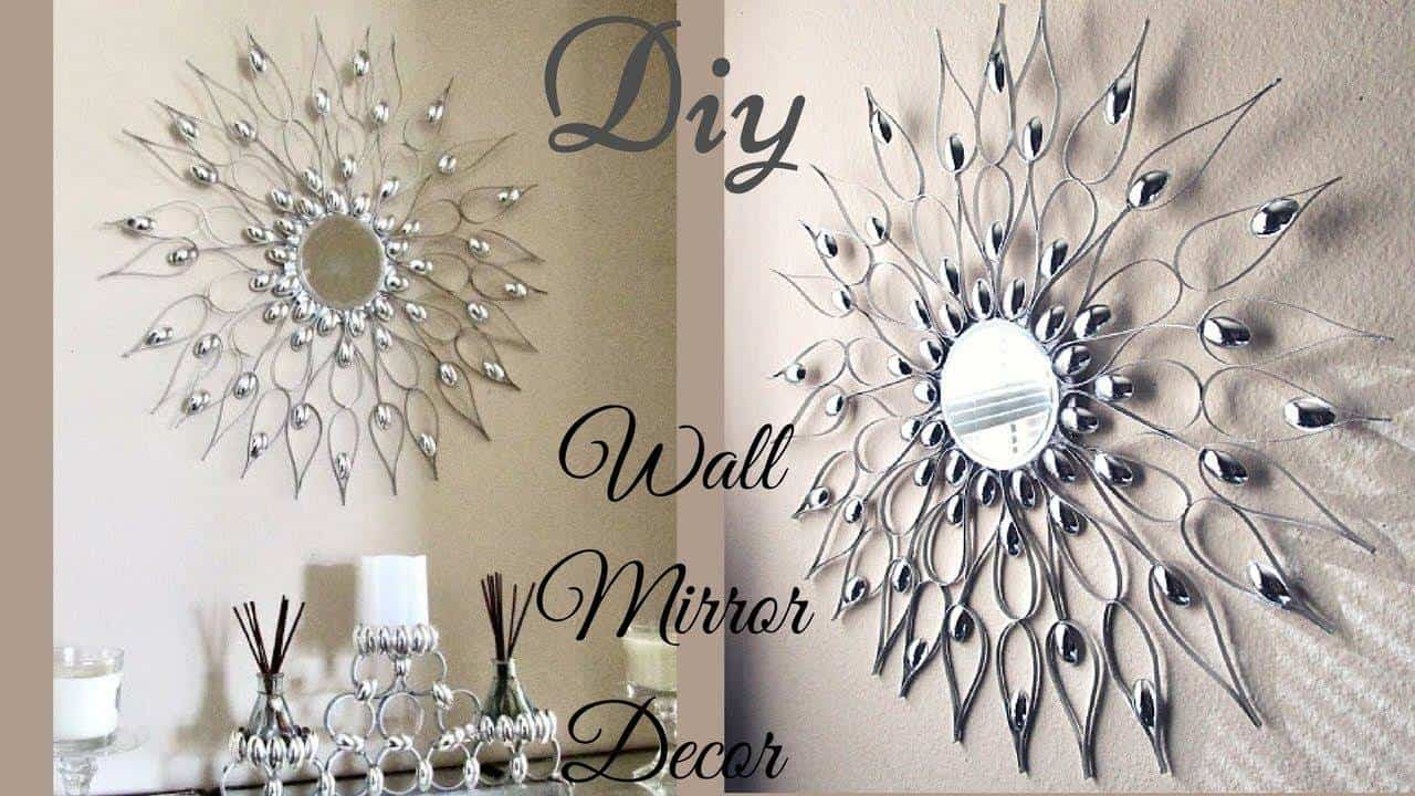 glam wall mirror decor