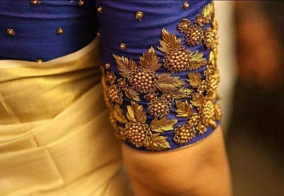 zardosi blouse border