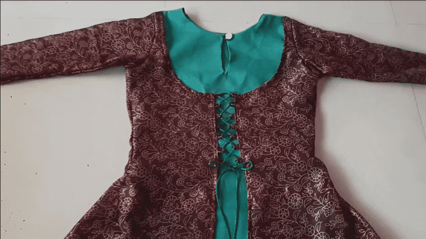 Designer Double Layer Kurti Cutting And Stitching Tutorial