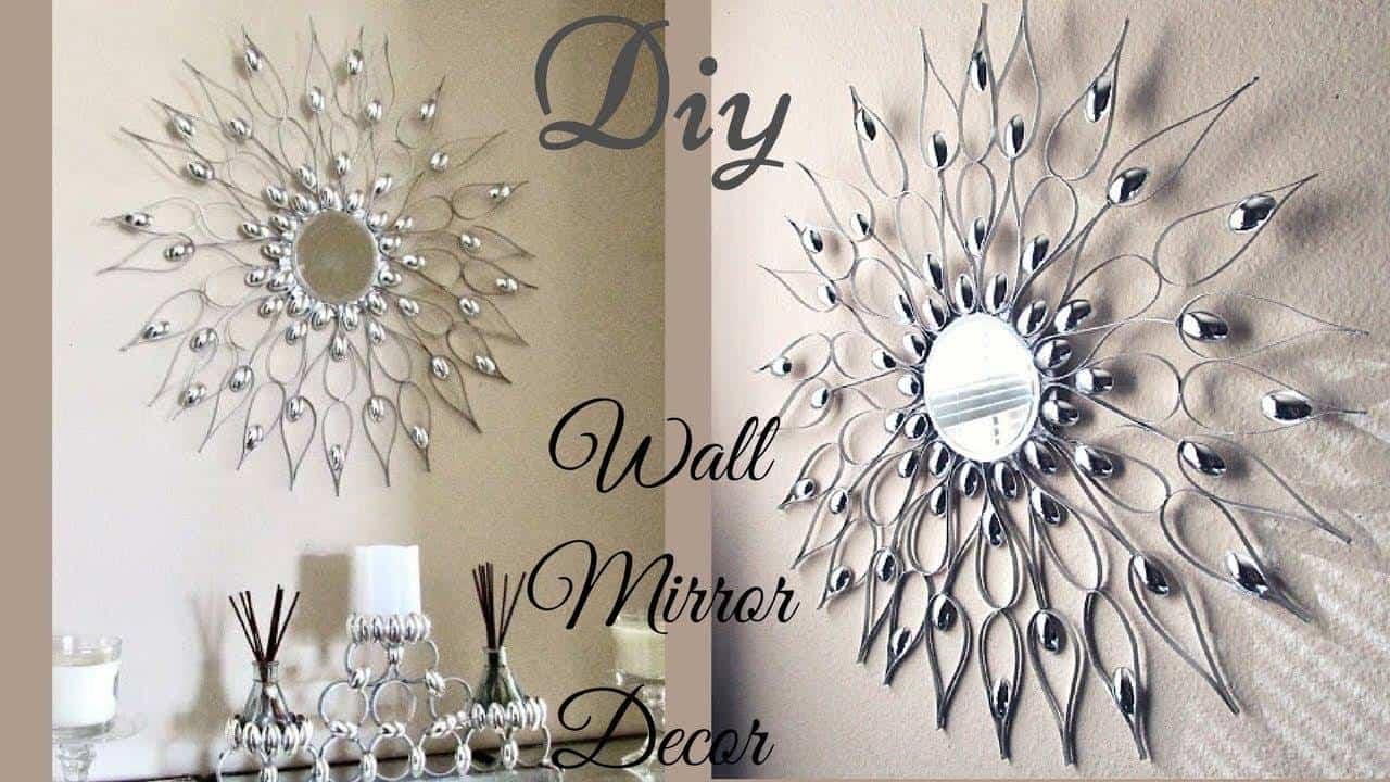 Quick and easy glam wall mirror decor - ArtsyCraftsyDad